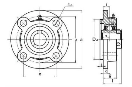 4 bolt flange units, cast iron housing  FC