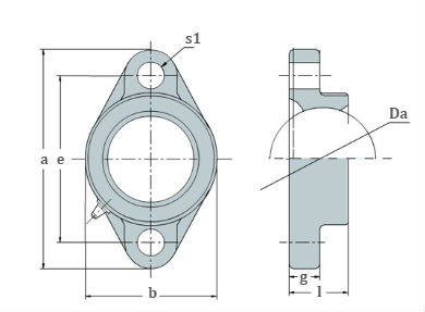 2 bolt flange bearing housing