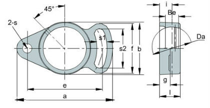 Adjustable flange housings FA