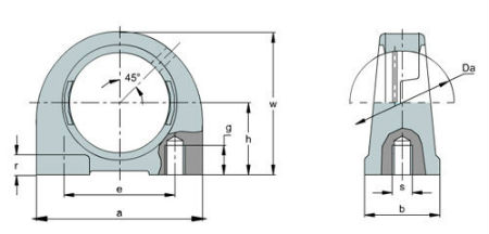 Taped base bearing housing