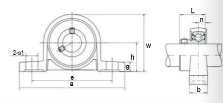 Ductile zine alloy housing and insert bearing units, up series