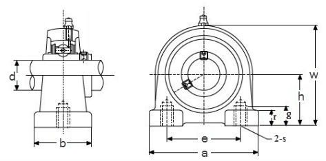 Mounted bearing units & inserts, tapped base