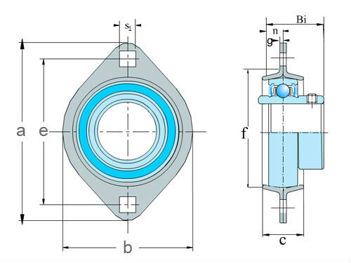2 bolt flange units-pressed steel